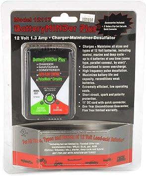 Batteryminder Modell 12117 12 Volt 1 33 Amp 12 V 1 33 A Ladegerät Betreuer Desulfator Auto
