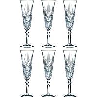 Nachtmann Palais Set Of 6 Lead Free Crystal Champagne Glass 240ml
