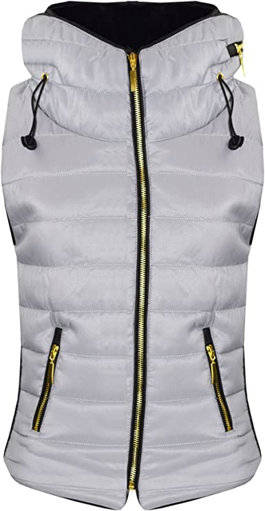 A2Z 4 Kids/® Kids Girls Boys Designers Black Sleeveless Hooded Padded Quilted Puffer Bubble Gilet Bodywarmer Jackets 5 6 7 8 9 10 11 12 13 Years