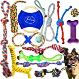 Jalousie Dog Rope Toys Dog Toy Assortment Puppy Chew Dog Rope Toy Nearly Indestructible Rope Toy Assortment for Medium…