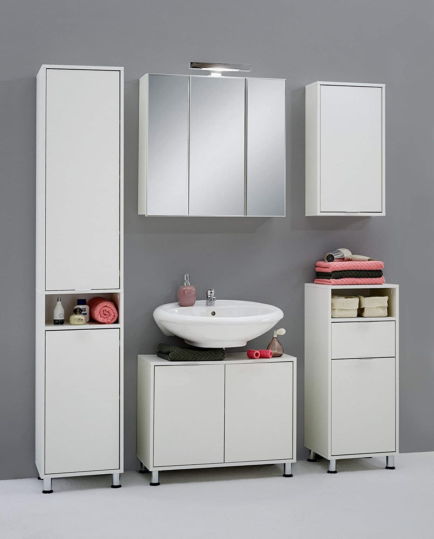 Mat: Nobilitato. Dim: 70x33x56,5 h cm Col: Bianco Mobile sotto lavabo Ibis B4 13Casa