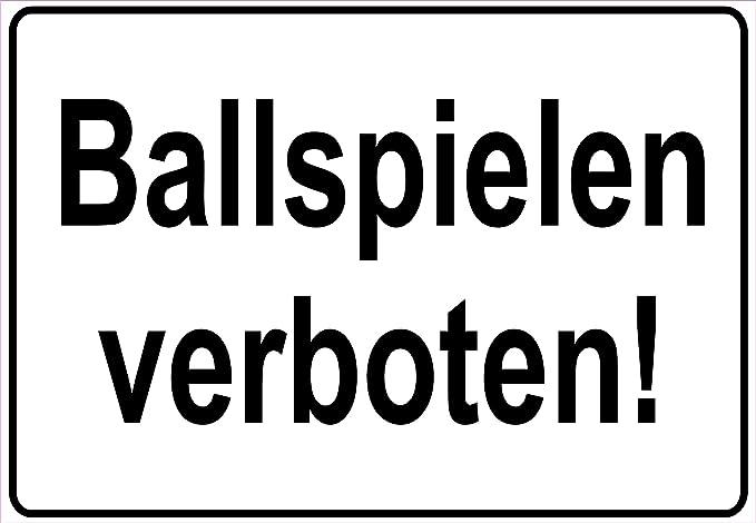 Netspares 138252753 - Cartel de advertencia para jugar al balón ...