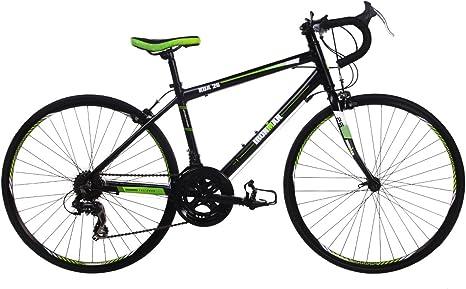 Ironman KOA 26, Unisex jóvenes Bicicleta de Carretera, 14 velocidades, Rueda de 26 Pulgadas, Negro/Verde: Amazon.es: Deportes y aire libre