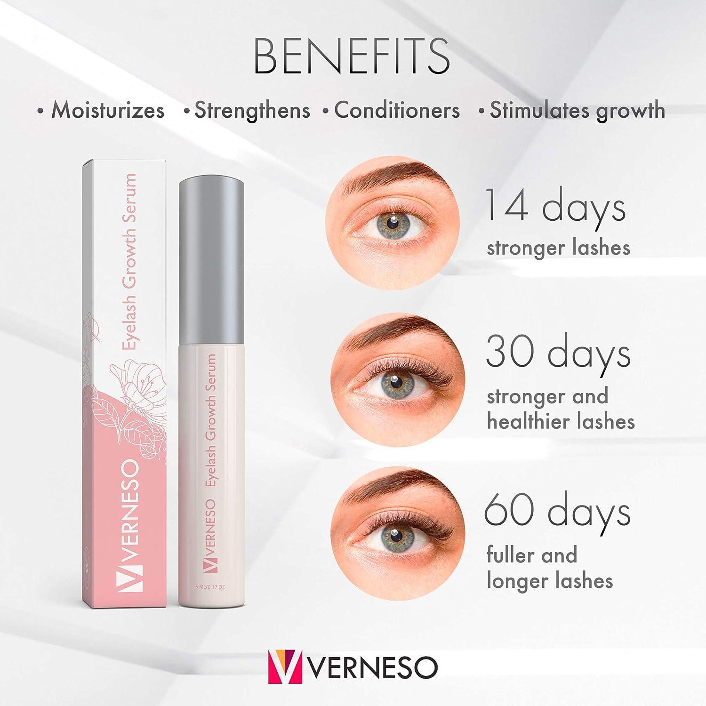 2e967c7ae90 Amazon.com: Eyelash Growth Serum - 100% Organic - USA Made - 5 ML - Lash  Boost - Eyelash & Brow Serum for Longer, Darker Eyelashes & Eyebrows: Beauty