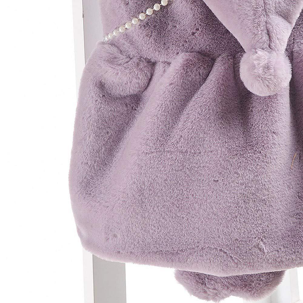 Dacawin Clearance Toddler Girls Sleeveless Solid Zipper Velvet Hooded Warm Waistcoat Satchel