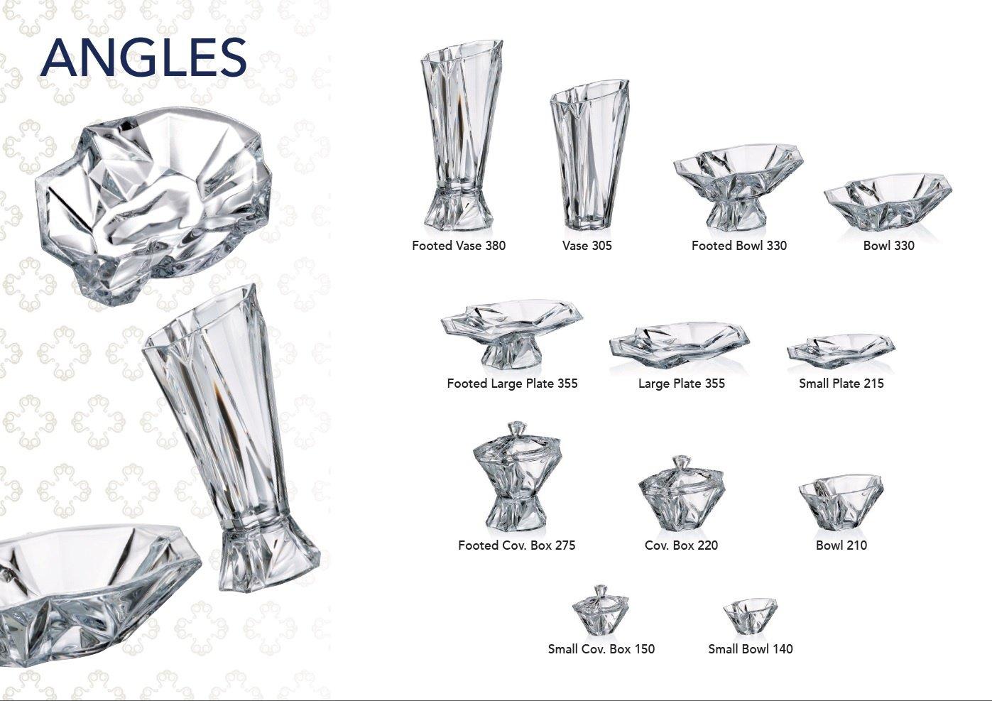 Decorative Vintage Handmade Crystal Candy Bowl ''Angles'' 13-in, Elegant Dish