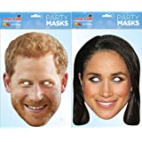 Prince Harry and Meghan Markle Face Mask Royal Wedding Pack, Multicolor