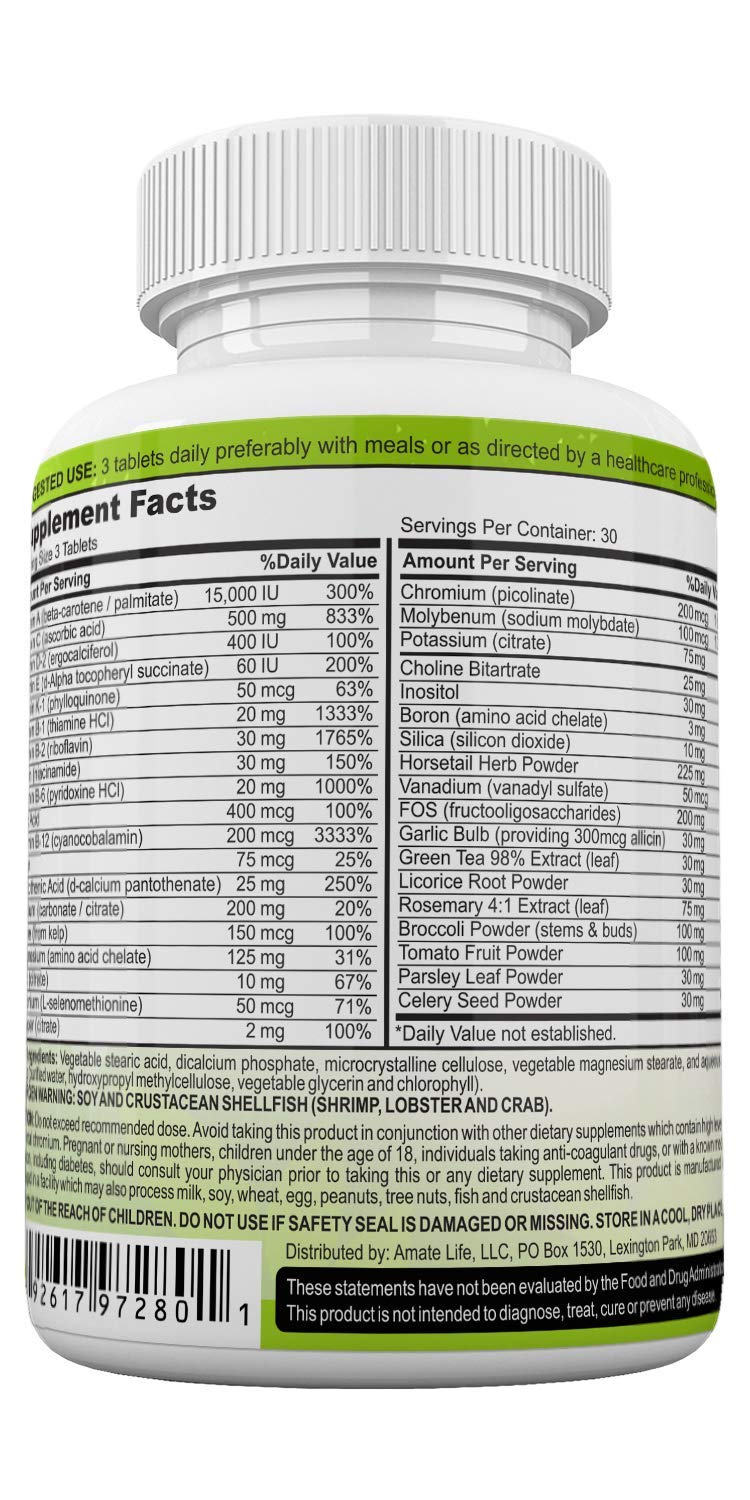 Amazon.com: Amate Life Super Veggies Multivitamin ...