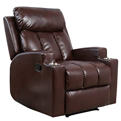 amazon com bonzy recliner chair contemporary theater seating two
