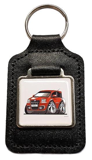 Fiat Panda rojo caricatura - Llavero de piel oficial regalo ...