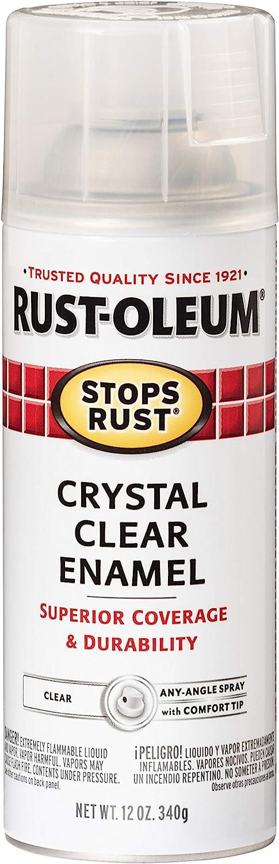 Rust-Oleum 7701830 Stops Rust Spray Paint, 12-Ounce, Gloss Crystal Clear