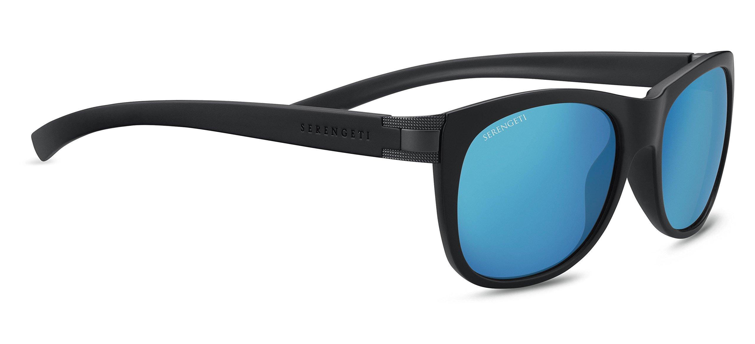 Serengeti Scala Sunglasses Sanded Black/Satin Dark Gunmetal, Blue