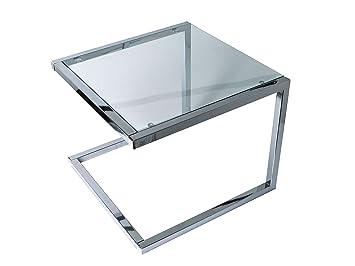 Leitmotiv tisch glas silber cm amazon küche
