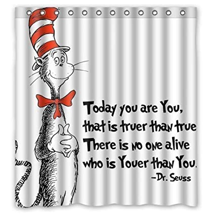 Amazon Cloud Dream Home Seuss Cat In The Hat Shower Curtain