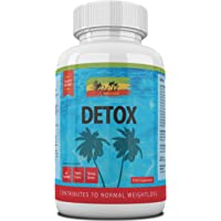 Detox Capsules - High Strength Daily Detoxification Treatment with Konjac Fibre - Cleanse Body Including Colon, Liver, Kidney, Gallbladder & Bowel - Assists Weight Loss - Helps Reduce Bloating.