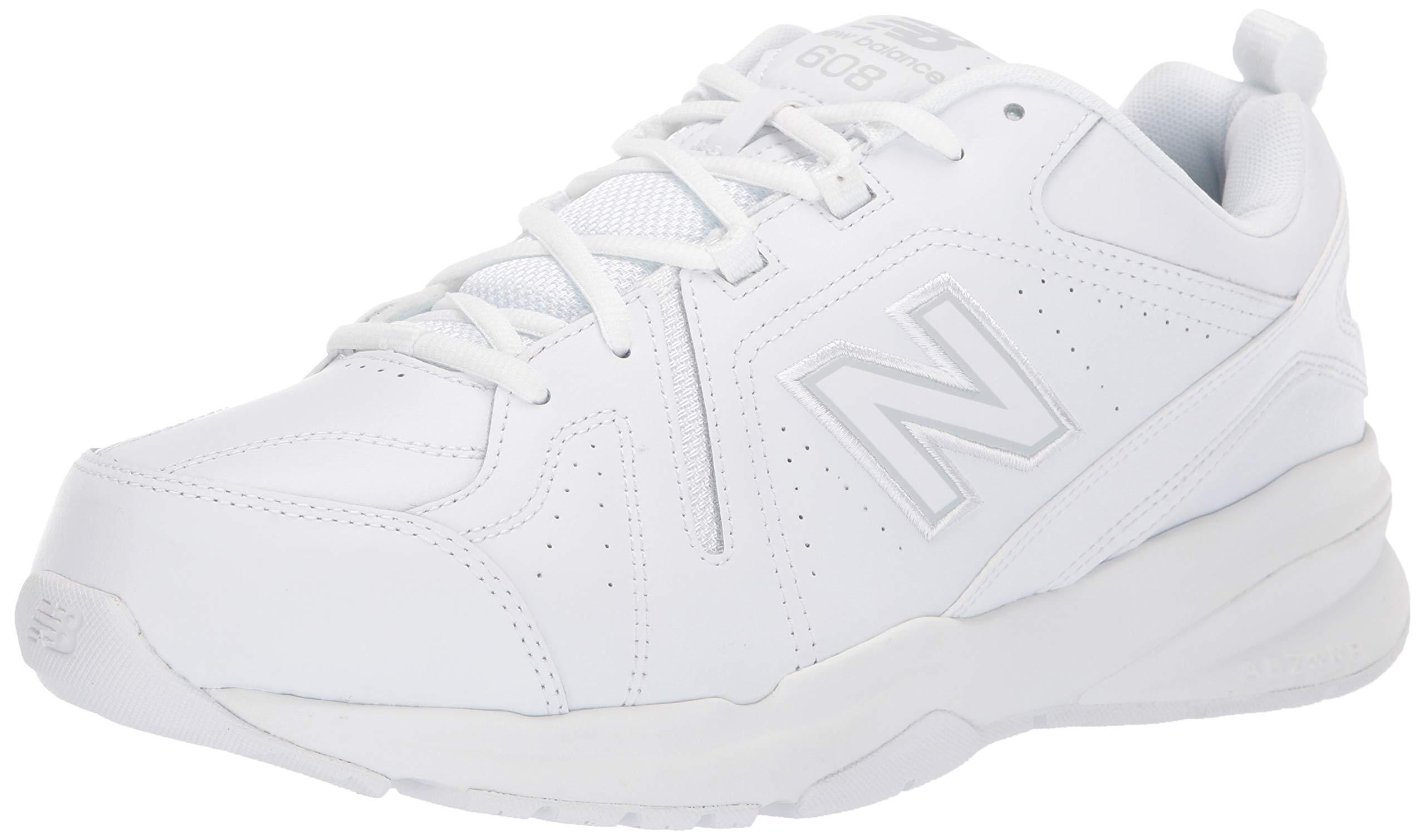 New Balance Men's 608v5 Casual Comfort Cross Trainer White, 6.5 D US