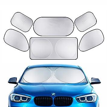 Amazon Com Full Car Windshield Sun Shade Lecone Folding Silvering