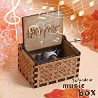 Mikolot Harry Potter Music Box Engraved Wooden Music Box Interesting Toys Xmas Gift