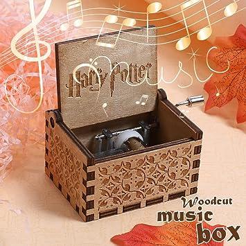 NELNISSA Harry Potter Caja de música grabada de madera caja de música Exquisitos regalos de Navidad/ divertidos niños juguetes/ hermosa decoración del ...