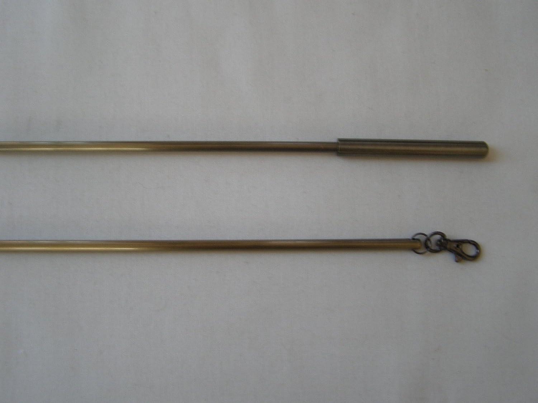 Burnished Antique Brass Curtain Draw Rods/Pulls 75cm Jones Interiors h500drbb75m