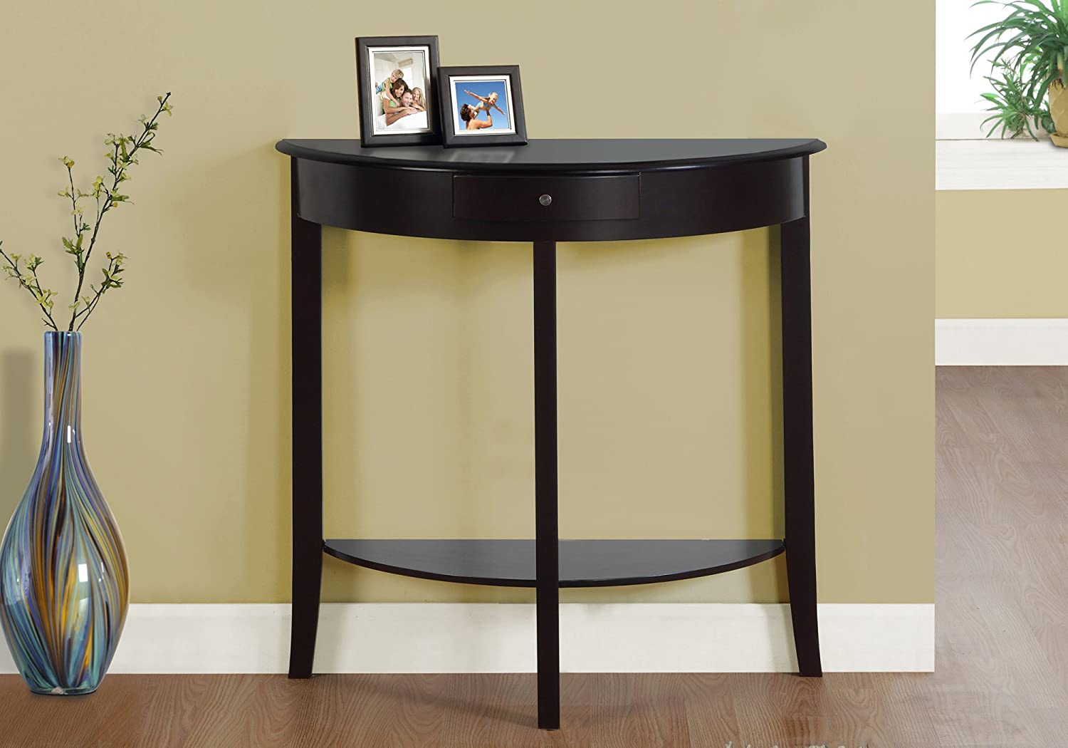 Monarch Hall Console Accent Table, 31 , Dark Cherry