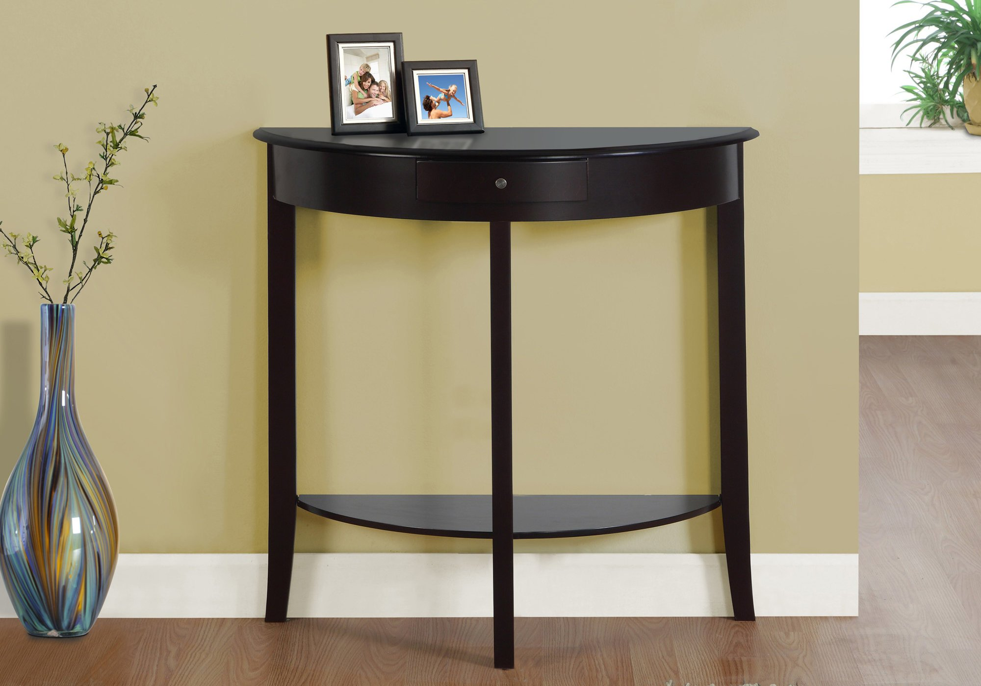 Monarch I 3128 Hall Console Accent Table, 31'', Dark Cherry