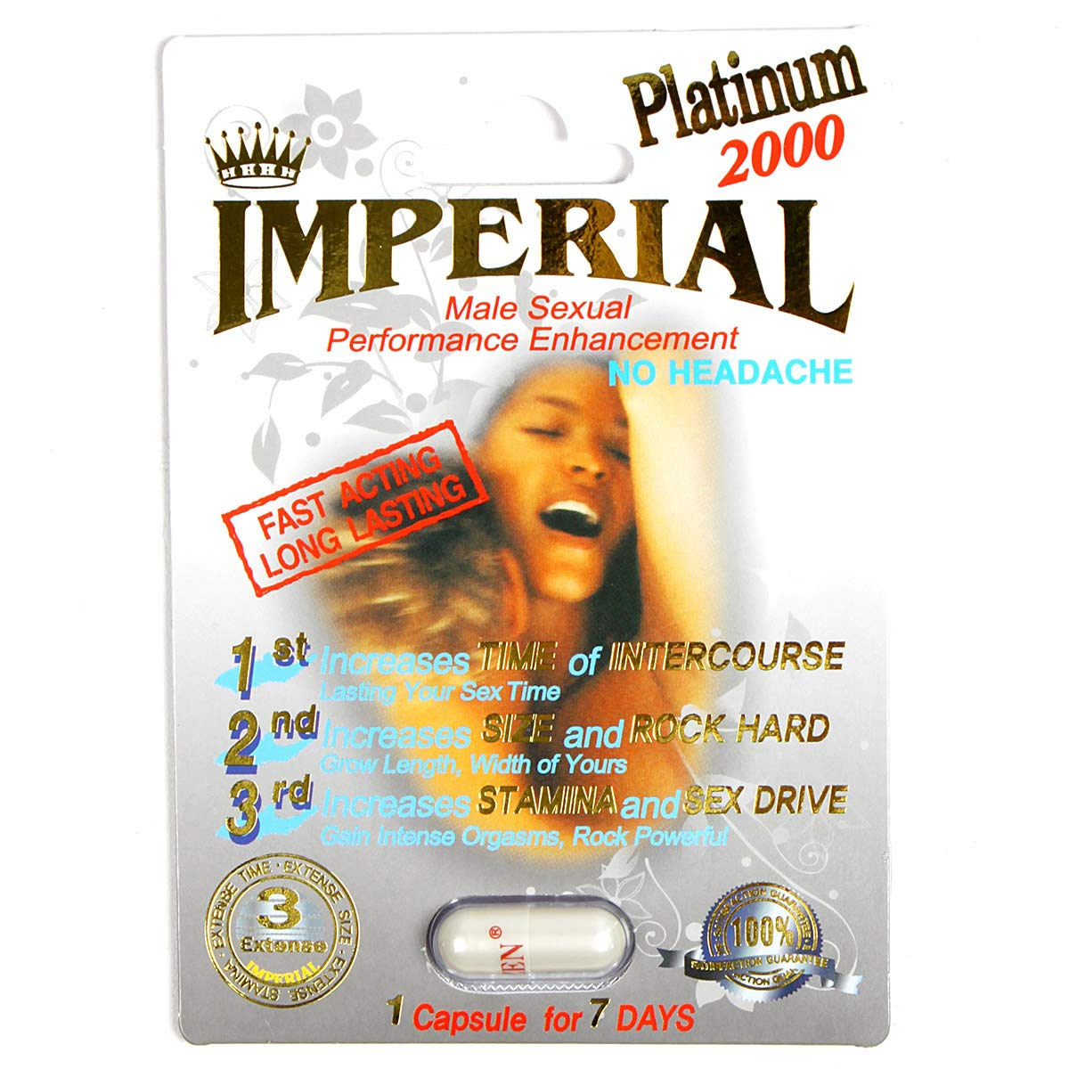 Imperial Platinum, All Natural Enhancement Pills for Men (3 Pill) by SERENITA