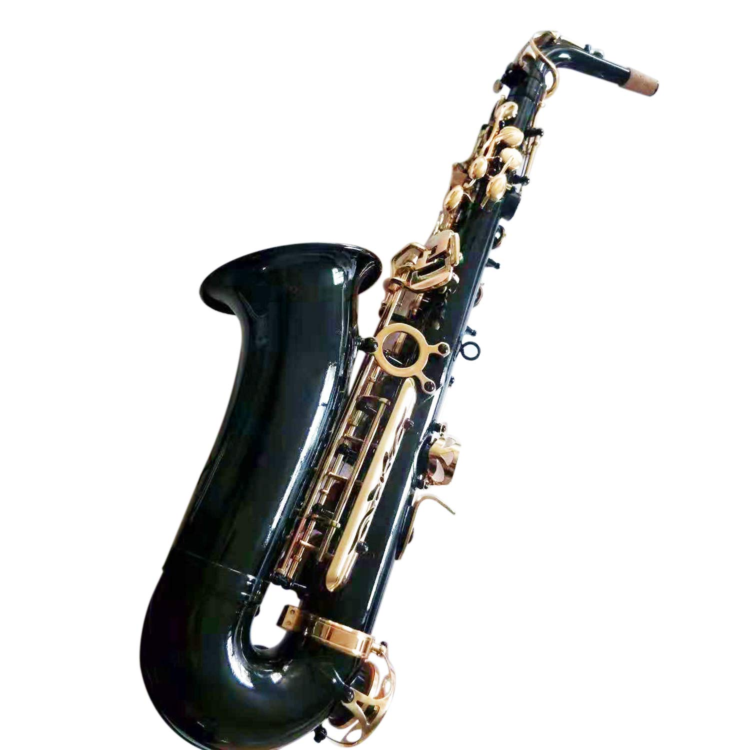 Flanger F-980 Black Nickel Plated Keys E Flat Professional Alto Saxophone with Tuner, Case, Mouthpiece