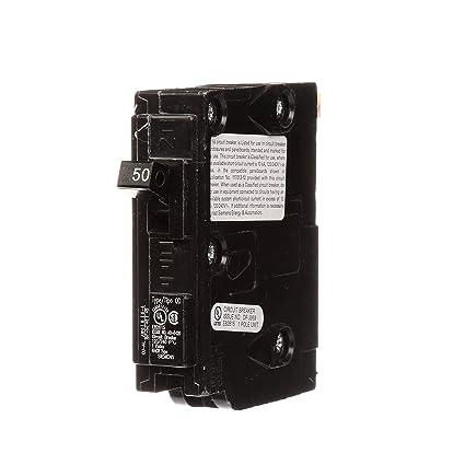 Siemens D150 QO Replacement 50-Amp Single Pole Circuit Breaker