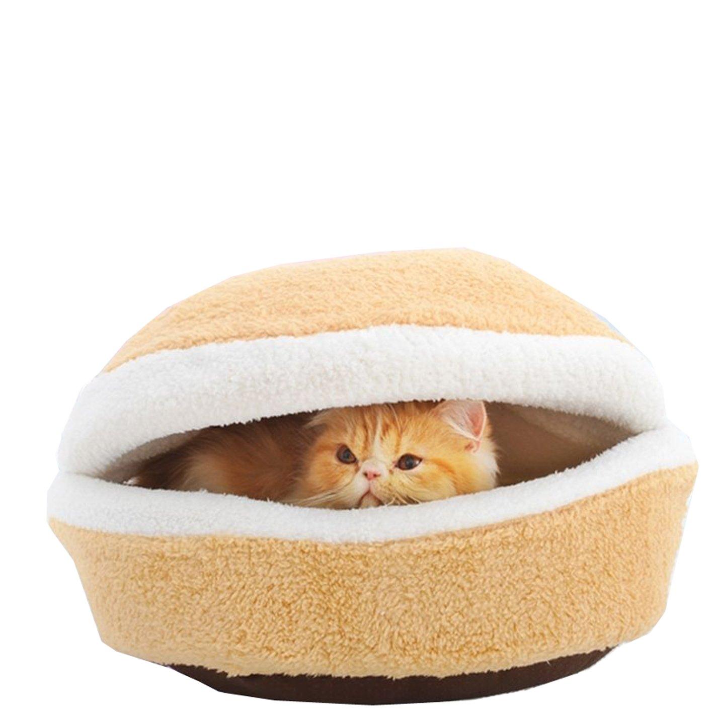 Edtoy Hamburger Beds Nest Shape Nursey Bed for Animals Cute (L)