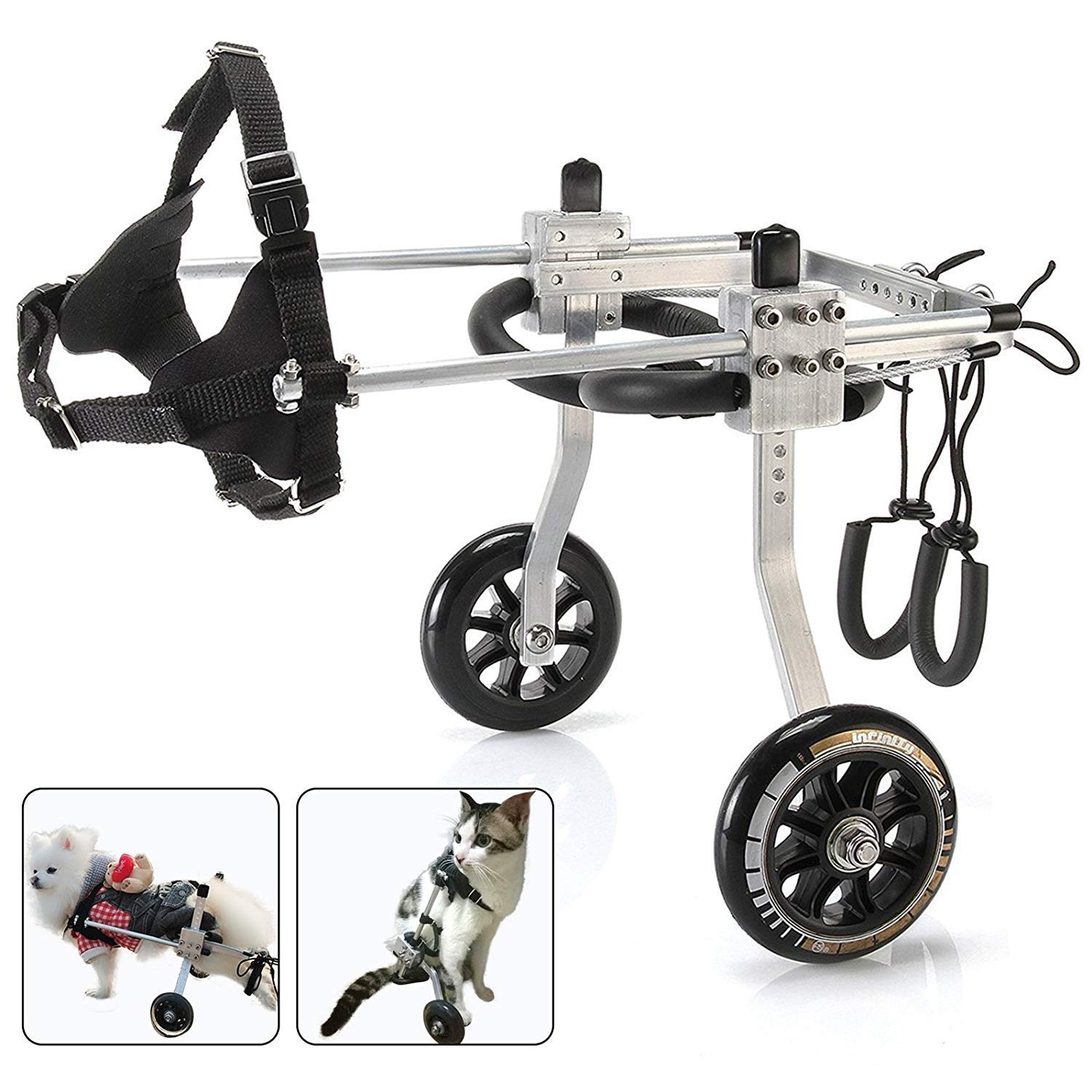 M-1 Adjustable Dog Wheelchair, Height  10.6 -17.7 , Width 5.1-10.2  Weight 19.8 to 35.2 lbs, hind legs Rehabilitation Rehabilitation Aid for Aging Injured Dog Cat Pet (Size   M-1)