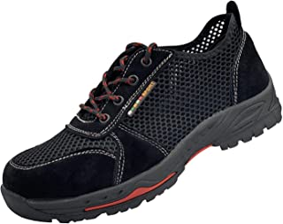ORISTACO Work Shoes for Men, Indestructible Steel Toe Battlefield Shoes Work Safety Womens Shoes Breathable Construction Sneakers
