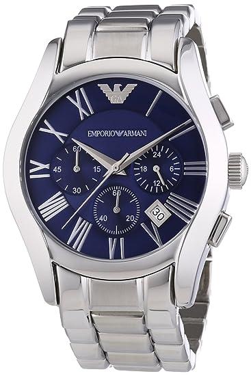Emporio Armani AR1635 Reloj de Cuarzo, para Hombre, Correa de Acero Inoxidable, Plateado: Emporio Armani: Amazon.es: Relojes