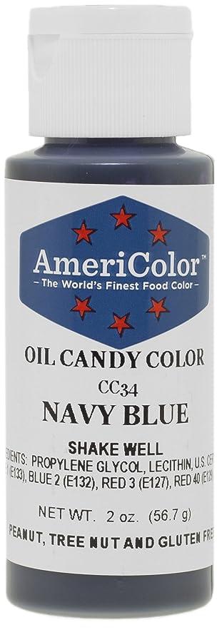 Amazon.com: AmeriColor 2 oz Navy Blue Oil Candy Color: Food ...