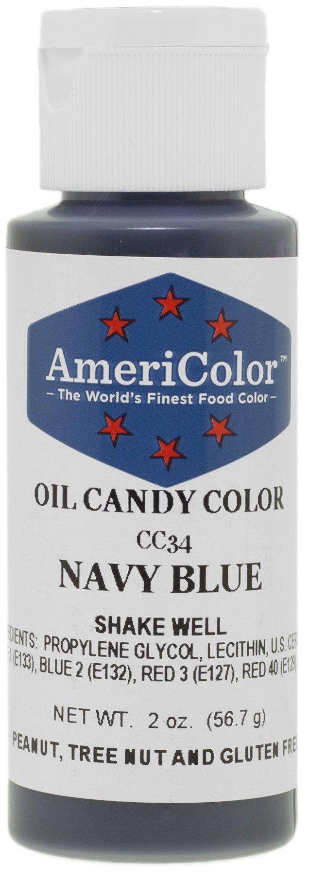 AmeriColor 2 oz Navy Blue Oil Candy Color