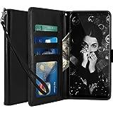 Custodia Samsung Galaxy Note 8, LK Case in Pelle PU di Lusso Portafoglio con Fessure di carta Cover Protettiva - Nero