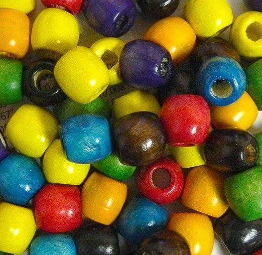 Wood Macrame Beads Vintage Macrame Beads 50mm 4 Red Large Hole Wood Beads Beads with Large Hole Red Wooden Beads Hair Beads