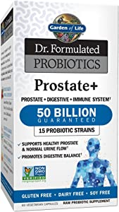 Garden of Life - Dr. Formulated Probiotics Prostate+ - Acidophilus and Probiotic Supports Healthy Prostate and Digestive Balance - Gluten, Dairy, and Soy-Free - 60 Vegetarian Capsules (Shipped Cold)
