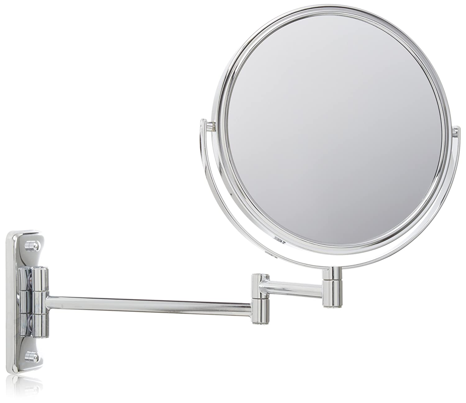 Amazon Jerdon JP7506N 8 Inch Wall Mount Makeup Mirror With 5x Magnification Nickel Finish Beauty