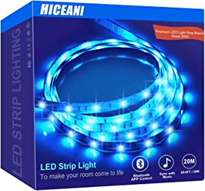 Led Strip Lights – 65.6ft Music Sync Led Light Strip – Premium Home Décor – Multicolor RGB Led Strip with 24-Key Remote and App – Bluetooth Activated LED Lights – Timer Function – Adjustable Length
