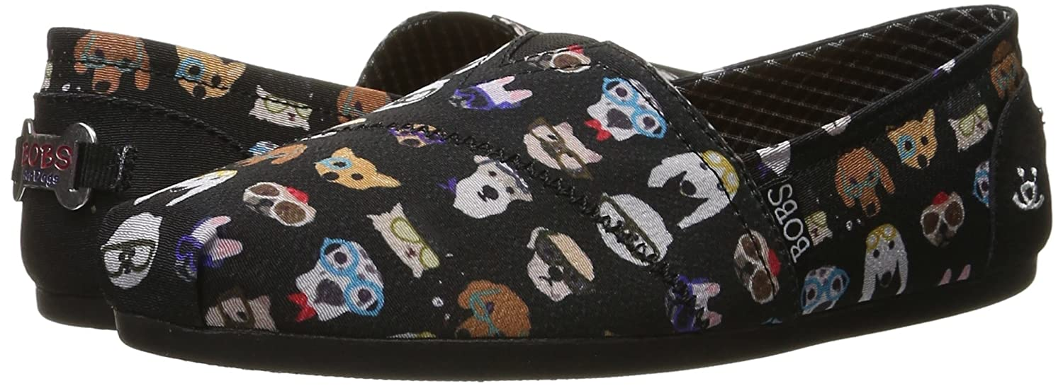 Skechers BOBS from Women's Bobs Plush - Pup Flat, Black Pup, 7 M US:  Amazon.co.uk: Shoes & Bags