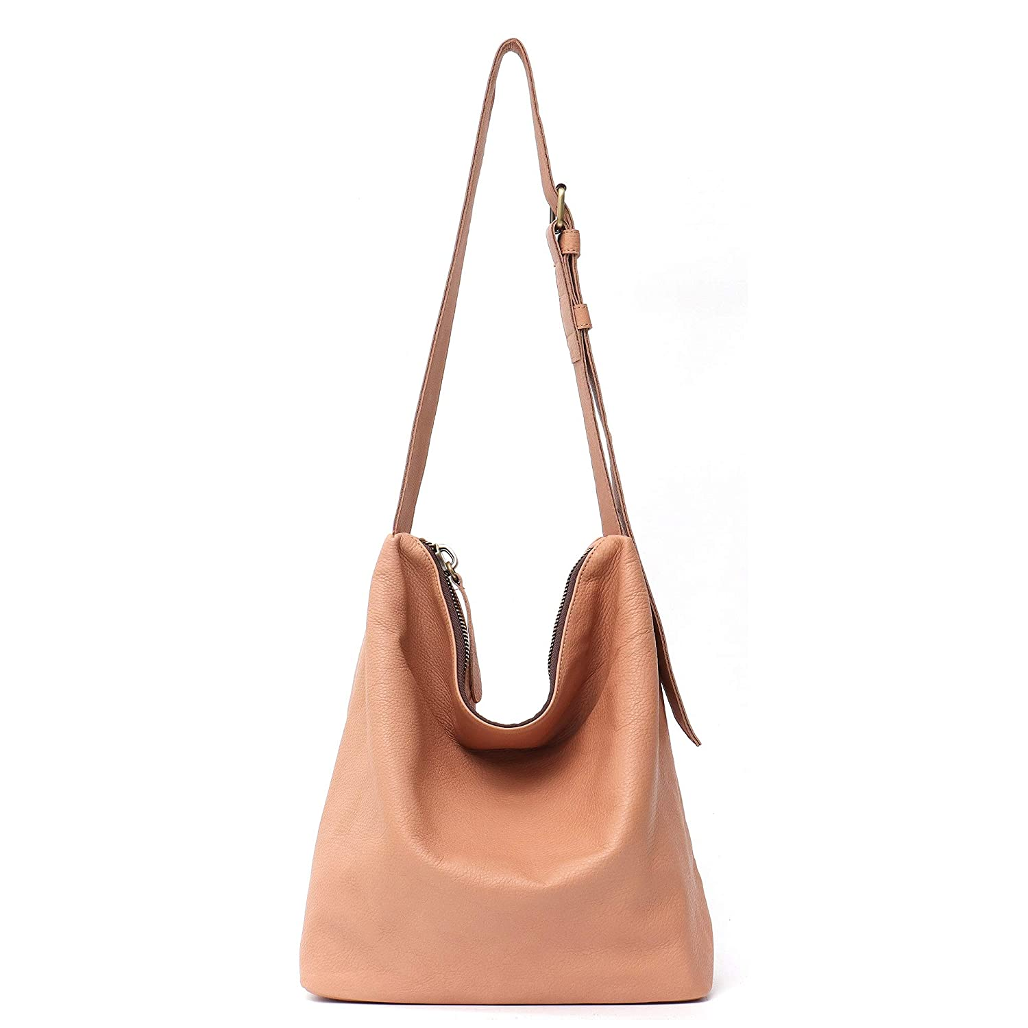 0991da5a43be STEPHIECATH Genuine Cow Leather Women's Crossbody Bags Large Fashion Casual  Style Italian Real Leather Handmade Messenger Shoulder Bag Female Hobo ...