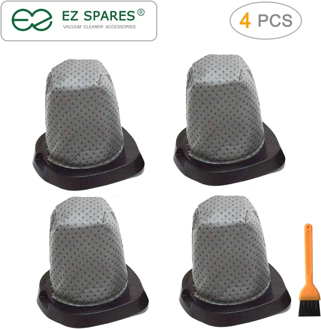 EZ SPARES Replacement for Vacuum Cleaner Filter 083405 Series Swift Stick Vacuum Style F25 F-25 Dust Cup Allergen Filter Hepa Attachment Kit Replace Part #'s 2SV1102000(4PCS)