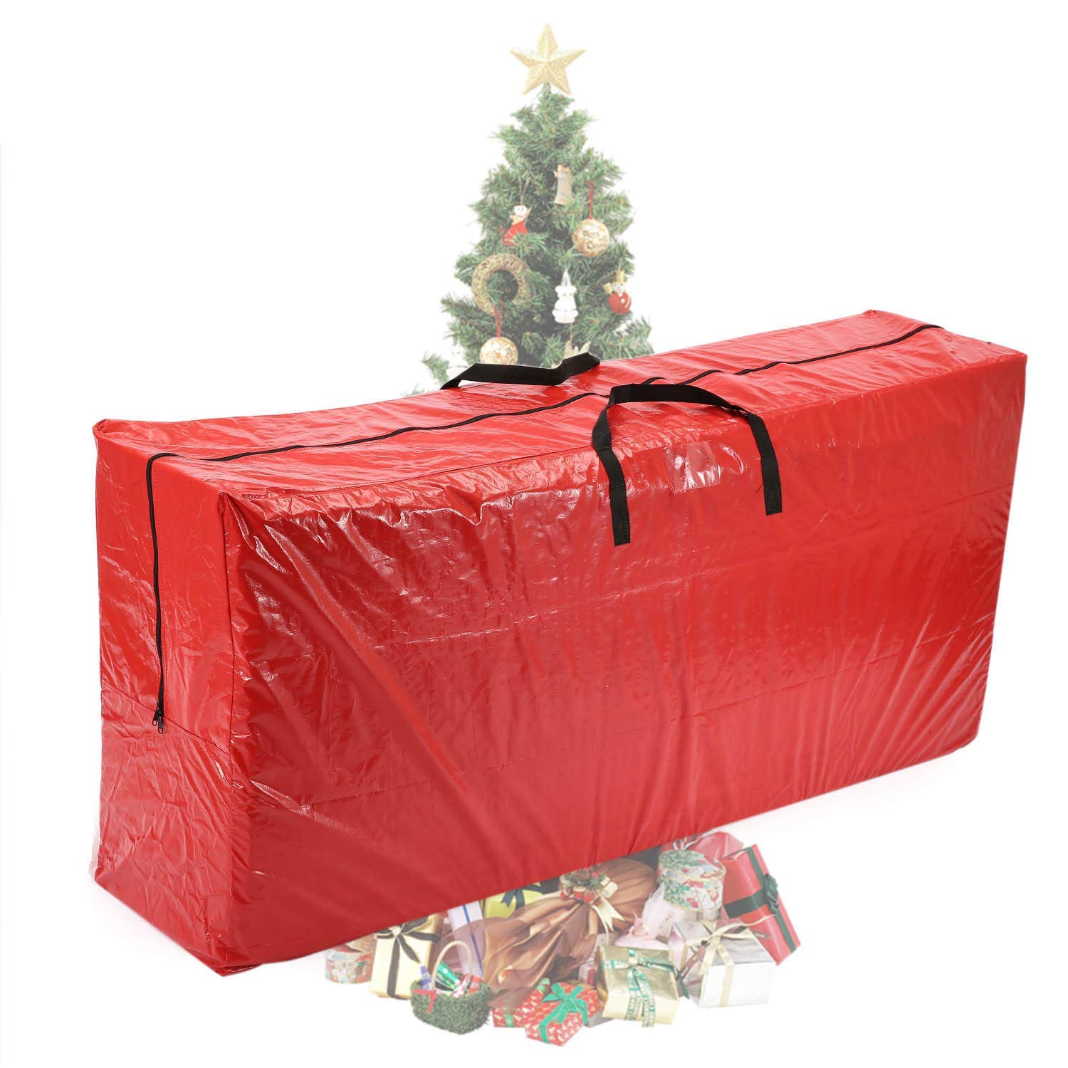 """Renewed Vencer Red Extra Large Christmas Tree Bag for 9 Foot Tree Holiday 65 x 30/"""" x 15,VHO-001"""