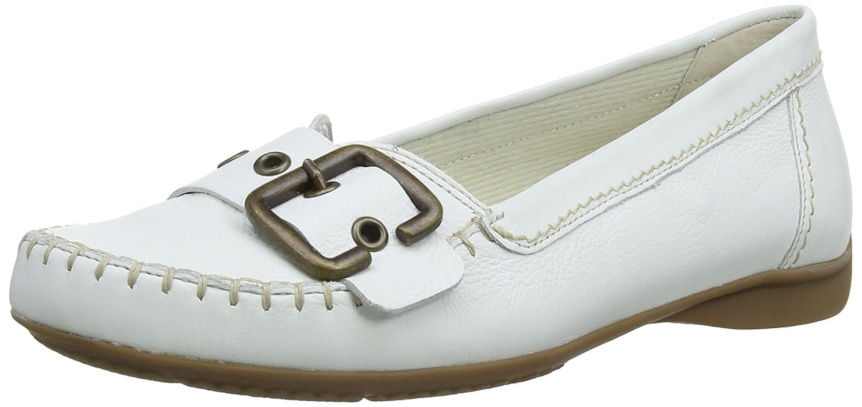 Gabor 22.522 Damen Schnürhalbschuhe Weiß (Weiß Leder/Nature)