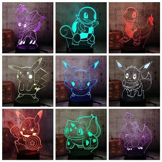 Lumière De Nuit 3d Lyd Lampe De Table Dessin Animé Mignon