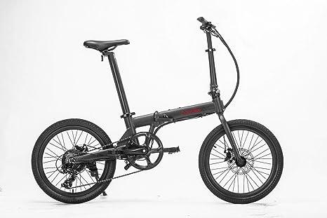 HOOBOARD Hoobike Bicicleta Eléctrica Plegable, 250 W, batería de 36V, 5,2Ah, batería extraíble con certificación de Iones de Litio, 20
