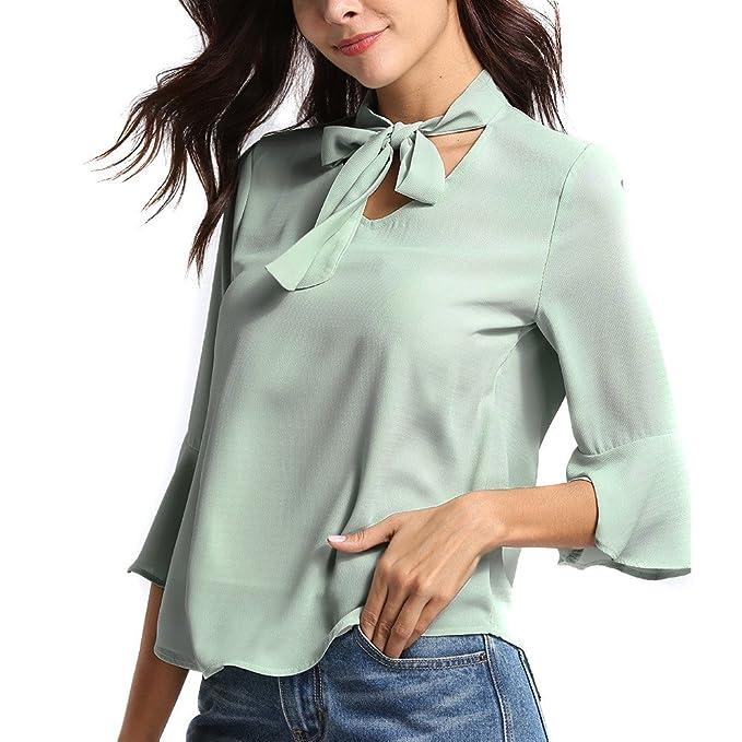 Camicia Donna Lunga Chiffon, Camicia Cotone Lunga Verde