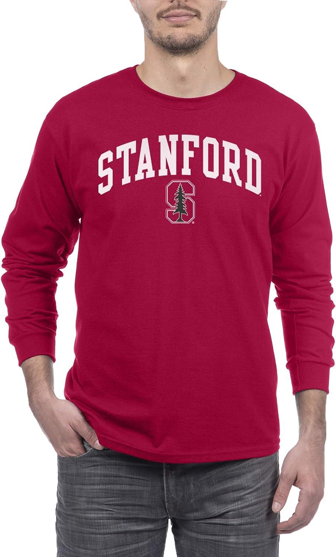 Elite Fan Shop Team Color Basic Long Sleeve College Arching T-Shirt