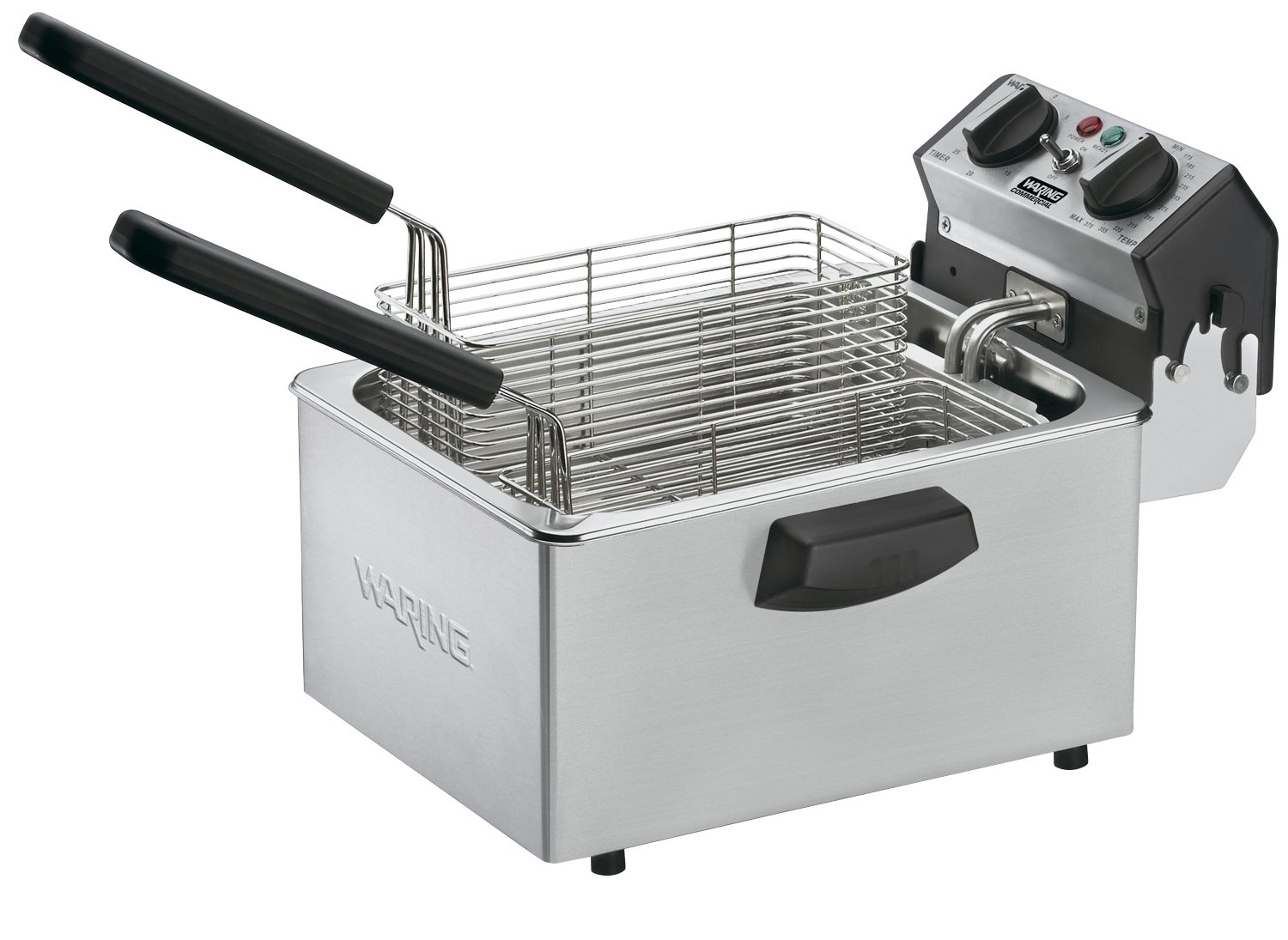 Waring Commercial WDF75RC 120-volt Countertop Compact Electric Deep Fryer, 8.5-Pound
